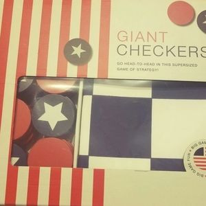 Other - Giant Checkers Board Game Player Jumbo Gaming Set